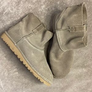 Ugg classic mini unlined perforated suede boot sz7
